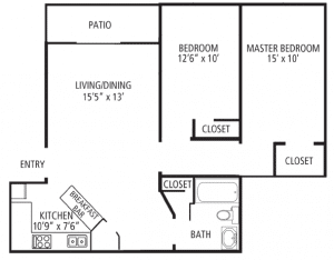 2 Bed / 1 Bath / 875 sq ft / Please Call