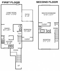 3 Bed / 1½ Bath / 1,250 sq ft / Please Call