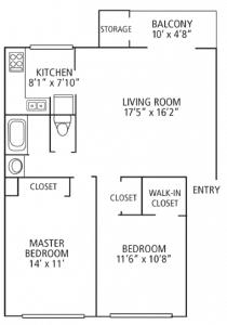 2 Bed / 1 Bath / 925 sq ft / Please Call